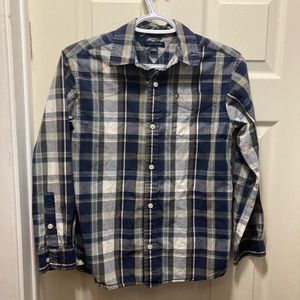 5/20 Tommy Hilfiger boys large plaid button down